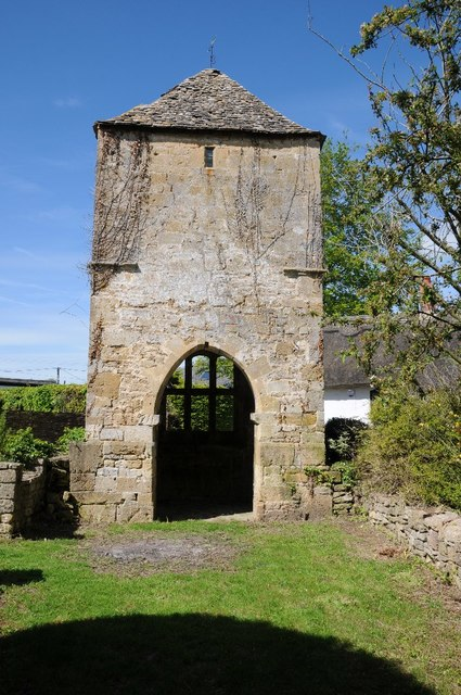 Tower of the old church in Gretton