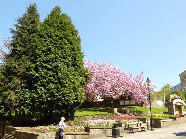 Garden at the top of Pateley Bridge High Street