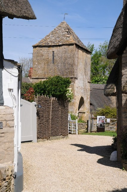 Old church tower Gretton