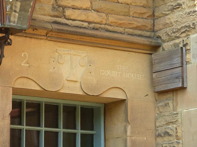 Former court house, Church Street, Pateley Bridge  - detail