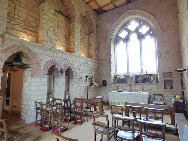 Markenfield Hall - chapel interior (1)