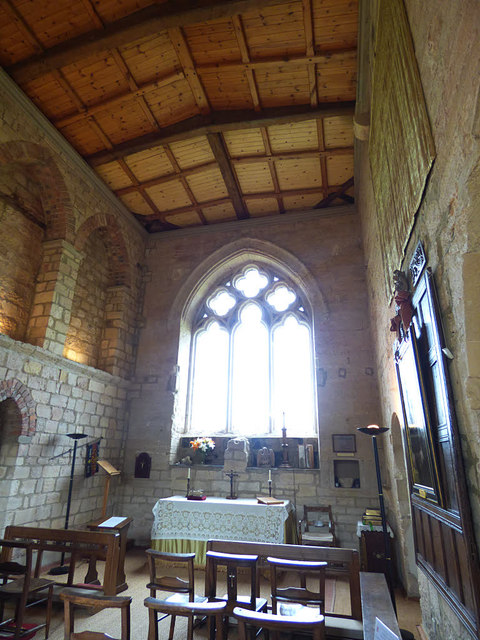 Markenfield Hall - chapel interior (2)