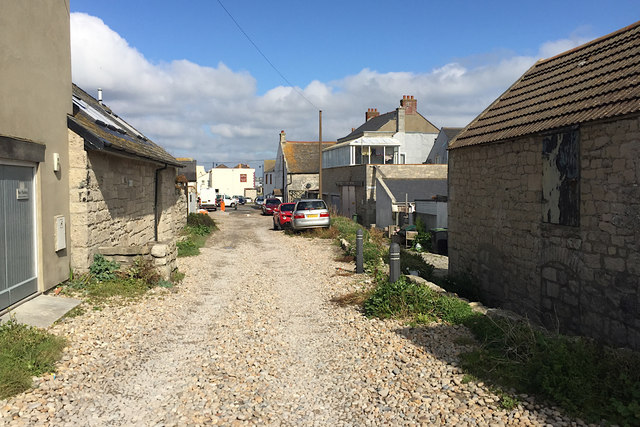 North on Pebble Lane, Chiswell, Portland