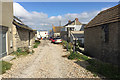 SY6873 : North on Pebble Lane, Chiswell, Portland by Robin Stott