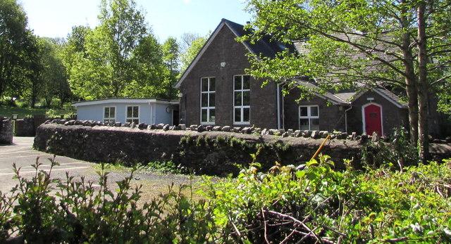 Former village school, Cwmdu, Powys