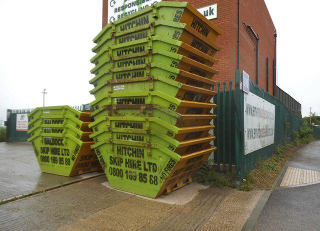 Skips outside Hitchin Skip Hire