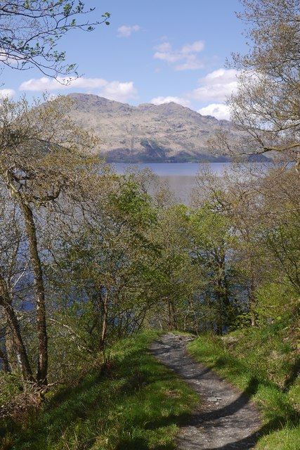 Path, east side of Loch Lomond