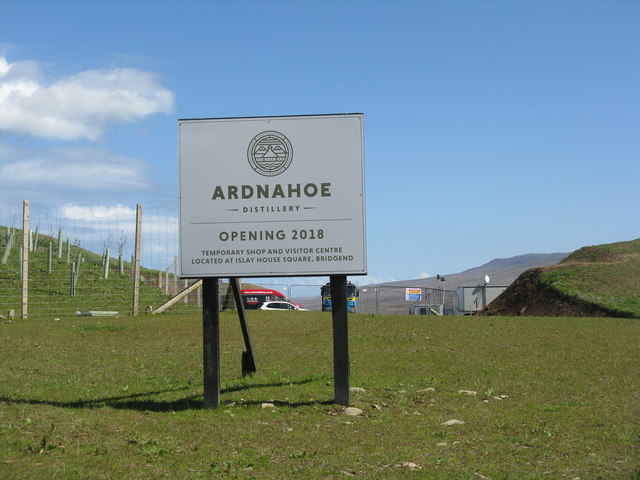 Entrance to Ardnahoe Distillery