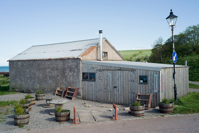 Slaughterhouse Cafe by the ferry slip,  Cromarty