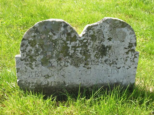 Gravestone in Kilmeny cemetery
