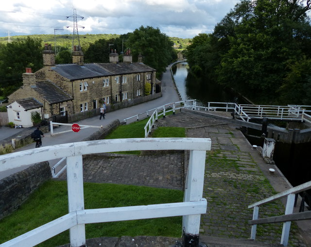 Cottages next to the Dobson Staircase Locks