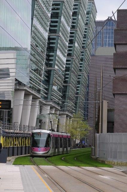 Tram on Midland Metro