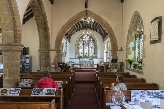 Interior, Holy Trinity church, Swallow