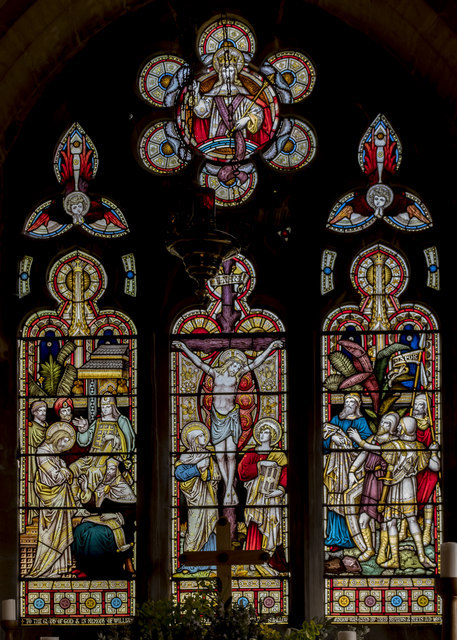 East window, Holy Trinity church, Swallow