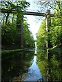 SP0393 : Boater's view of Chimney Bridge, Tame Valley canal by Christine Johnstone