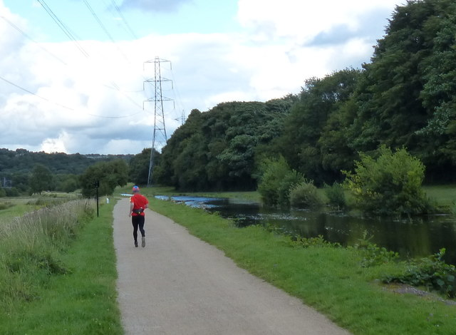 Towpath along the Leeds and Liverpool Canal