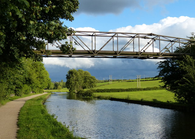 Pipebridge across the Leeds and Liverpool Canal