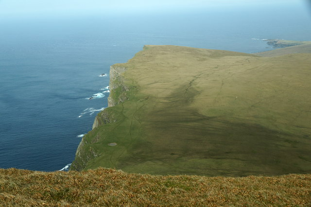The North Bank from the Kame, Foula