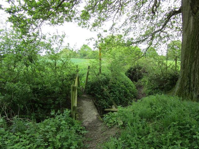Footbridge over a drain, Edmondthorpe