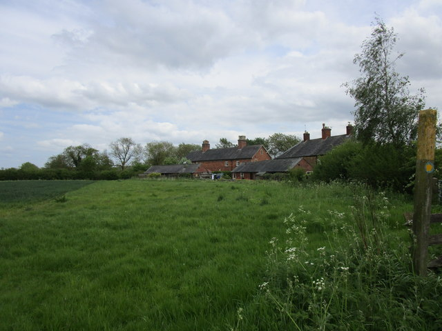 Field edge and cottages, Edmondthorpe