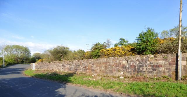 Wall at Old Largs Road