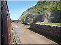 NX9823 : SRPS Cumbrian Coast Railtour 2018 : Safety Netting South of Harrington by Richard West