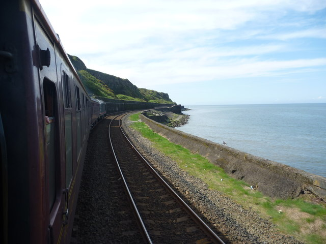 SRPS Cumbrian Coast Railtour 2018 : Heading South Towards Redness Point