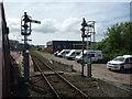 NX9718 : SRPS Cumbrian Coast Railtour 2018 : Platform End, Whitehaven (Bransty) Station by Richard West