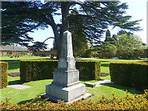 ST2885 : Memorial to Sir Briggs, Tredegar House gardens, Newport by Robin Drayton