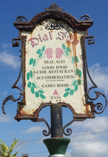 Sign for the Dial Inn, Lamphey
