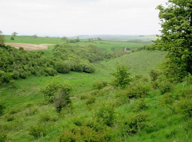 Deep  Dale  toward  Wharram  Percy