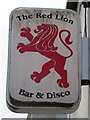 ST1797 : Red Lion name sign, High Street, Blackwood by Jaggery