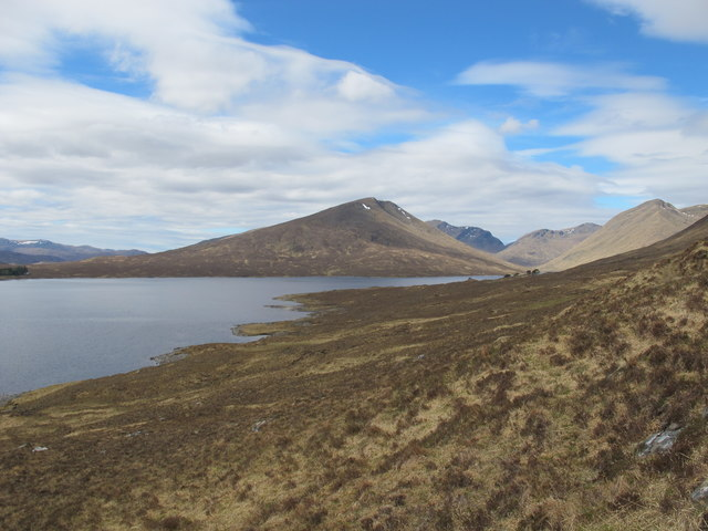 Looking over Loch Monar to Lurg Mhor