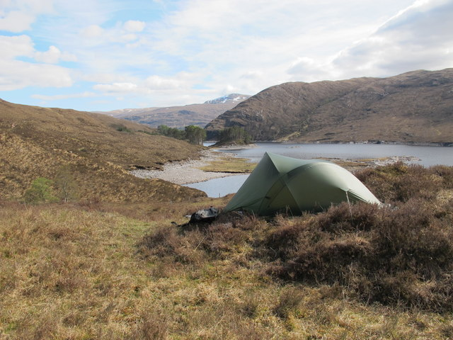 Camped above the Eastern end of Loch Monar
