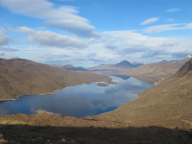 Loch Monar from the slopes of Creag nan Uan