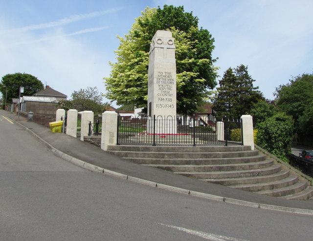 Grade II listed Blackwood War Memorial