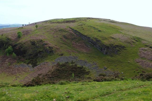 The north end of the 432m Carneddau summit