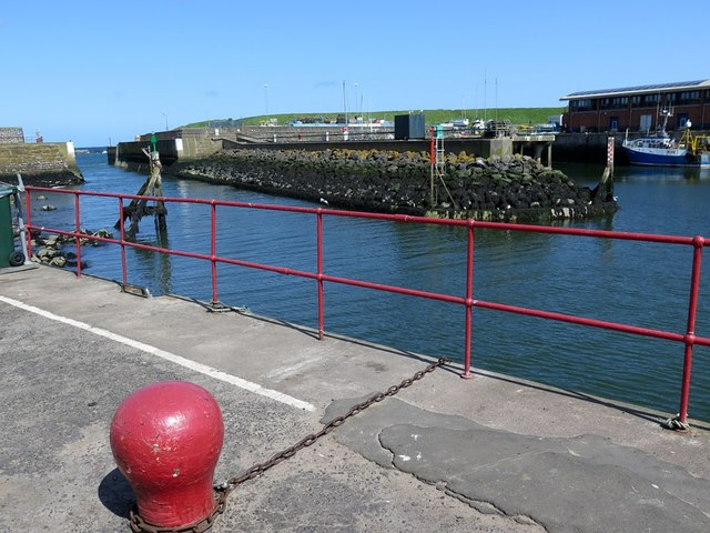 Entrance to Eyemouth Harbour