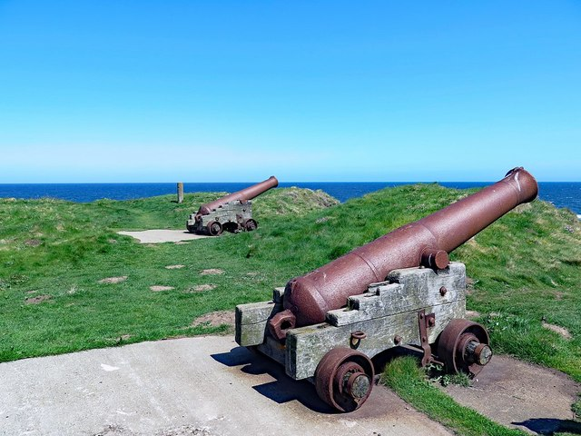 Canons at Eyemouth Fort