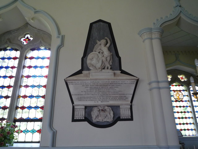 Memorial of John Lord Viscount Bateman (Shobdon)