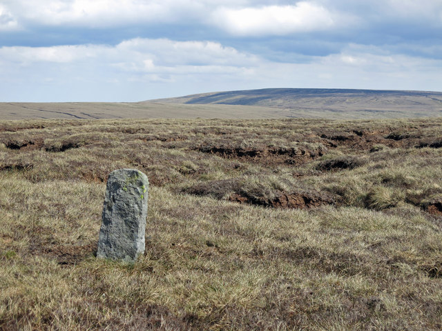 Boundary stone on the northern slopes of Three Pikes