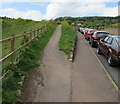 SY1186 : South West Coast Path junction, Peak Hill Road, Sidmouth by Jaggery