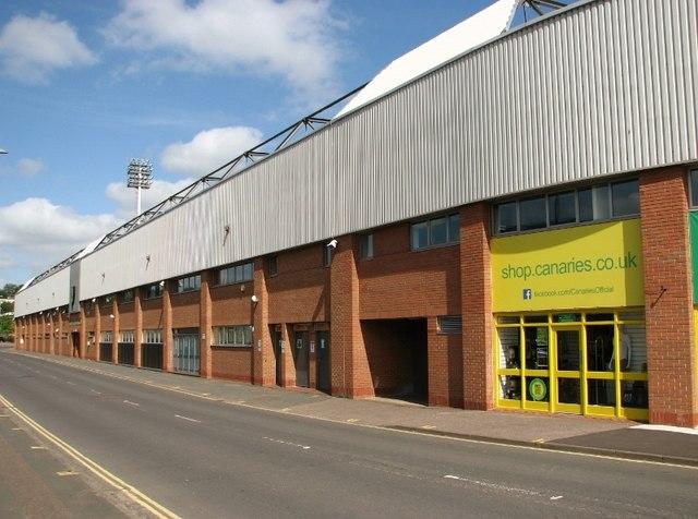 Carrow Road skirting the football stadium