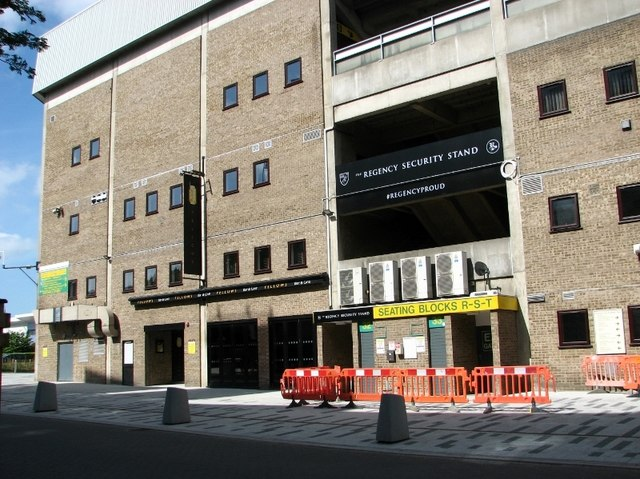 Carrow Road football stadium - Regency Security Stand