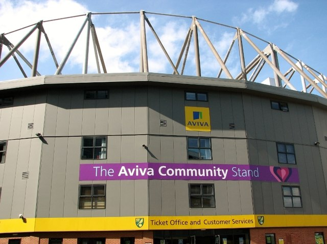 Carrow Road football stadium - the Aviva Community Stand