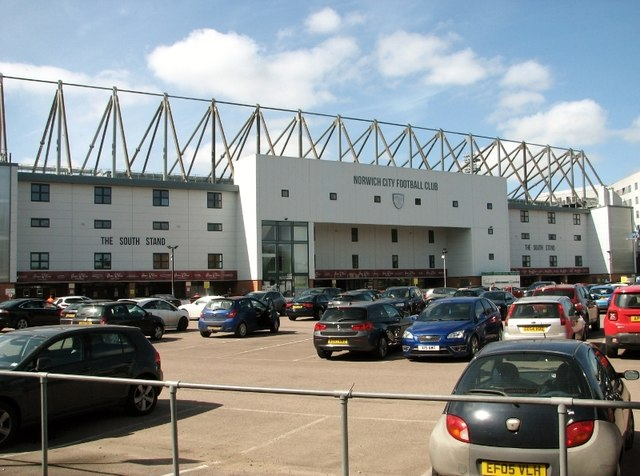 Carrow Road football stadium- the South Stand