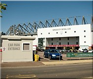 TG2407 : Entrance into the carpark of Carrow Road football stadium by Evelyn Simak