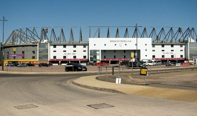 The Carrow Road football stadium