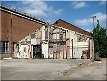 TG2407 : The remains of an industrial building by Evelyn Simak