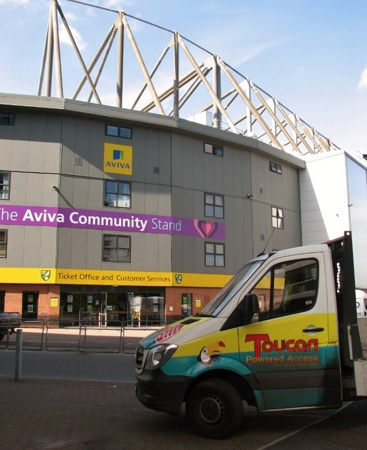Parked by the Aviva Community Stand